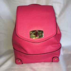 Merona Faux Leather Pink Backpack Purse